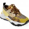 Pantofi sport EPICA galbeni, 135P174, din piele naturala si material textil