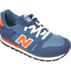 Pantofi sport NEW BALANCE bleumarin, YC373, din material textil si piele ecologica