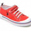 Pantofi sport US POLO ASSN rosii, PENEL1F, din material textil