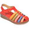 Sandale CONSUELO multicolore, 1372, din piele naturala