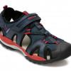 Sandale GEOX bleumarin, J020RA, din material textil si piele ecologica