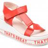 Sandale LABOUR rosii, EY01452, din piele naturala