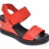 Sandale LE BERDE rosii, 47, din piele naturala