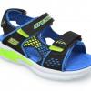 Sandale SKECHERS negre, E-Ii Sandal Beach Glower, din piele ecologica