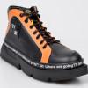 Pantofi sport FLAVIA PASSINI negri, GM2322, din piele naturala