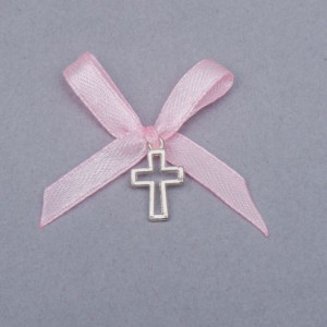 Cruciulite botez decupate fundita roz