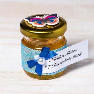 Marturii borcanele miere nunta cu fluturas multicolor