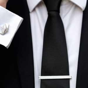 Set butoni camasa model geometric si ac cravata