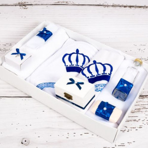 Trusou botez coronita albastra