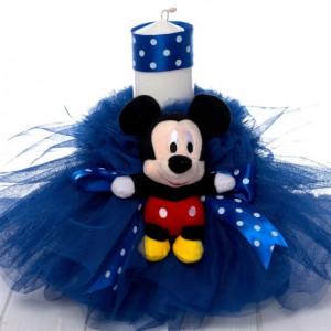 Lumanare botez baieti Mickey Mouse