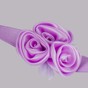 Corsaj satinat trandafiri lila
