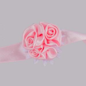 Corsaj satinat trandafiri roz