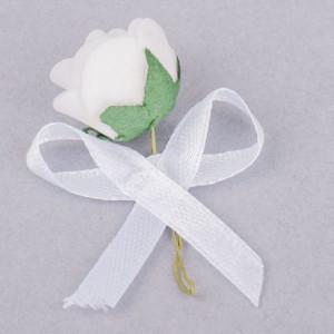 Cocarde trandafir alb fundita alba