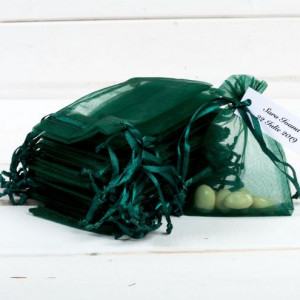 Marturii nunta saculeti verzi mari