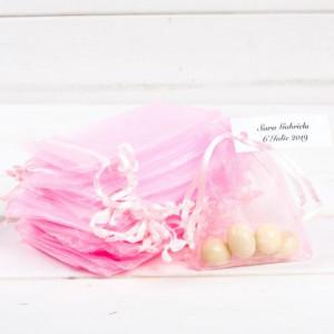 Marturii botez saculeti roz mari