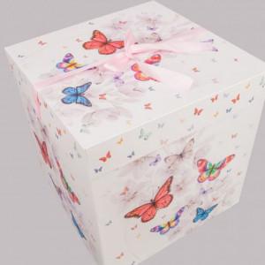 Cutie cadou Fluturi colorati