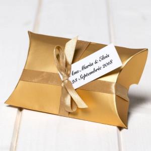 Marturii nunta cutiute cadou aurii