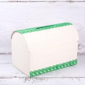 Cufar dar nunta cu dantela verde