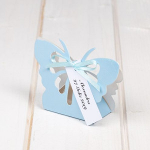 Marturii botez cutiuta fluture bleu
