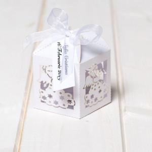 Marturii botez cutiute albe ingeras