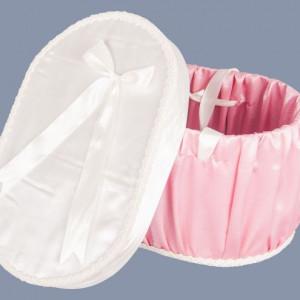 Cutie pentru trusou de botez roz