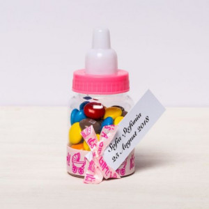 Marturii botez biberoane roz It s a girl