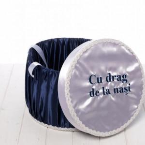 Cutie trusou bleumarin Cu drag de la nasi