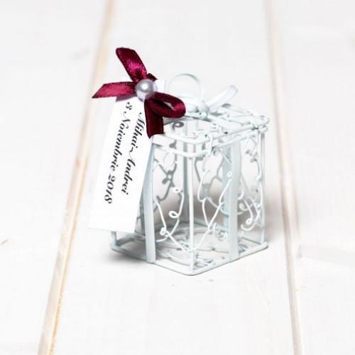 Marturii nunta cutiuta cadou din sarma