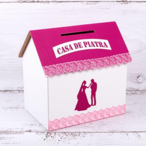 Casuta dar nunta roz fucsia