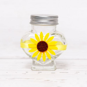 Sticluta de mir inima cu floarea-soarelui