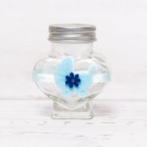 Sticluta de mir inima cu carucior bleu