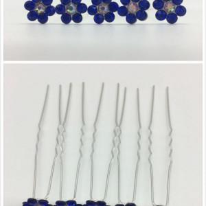 Ace de par mireasa floare albastra