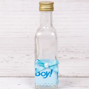 Sticluta de mir cu decor bleu It a boy