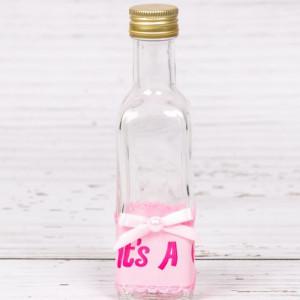 Sticluta de mir cu decor roz It s a girl