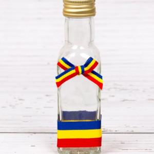 Sticluta de mir cu decor tricolor