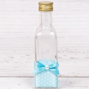 Sticluta de mir decor bleu cu buline