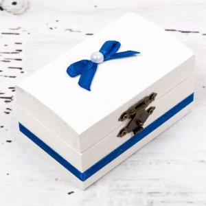 Cutiuta mot botez decor albastru