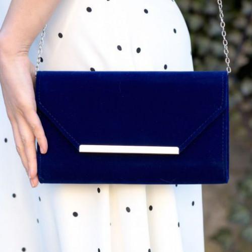 Plic de ocazie catifea albastra