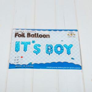 Baloane petrecere It s boy bleu cu stelute