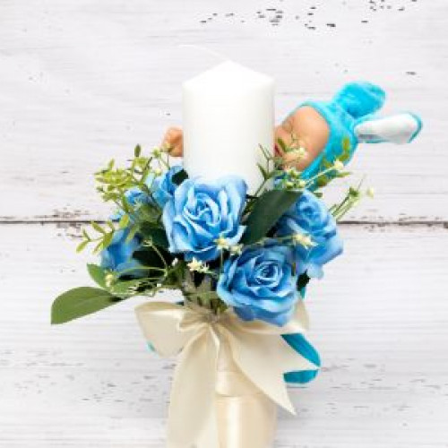 Lumanari botez cu flori