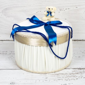 Cutie trusou botez ursulet si fundita albastra