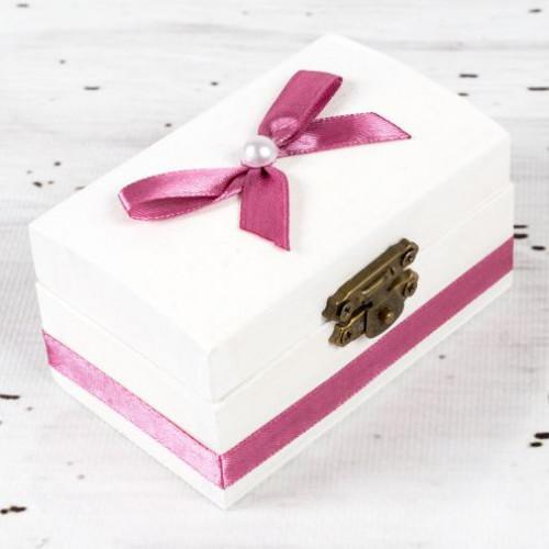 Cutiuta mot botez decor roz prafuit