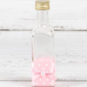 Sticluta mir banda si fundita roz cu buline