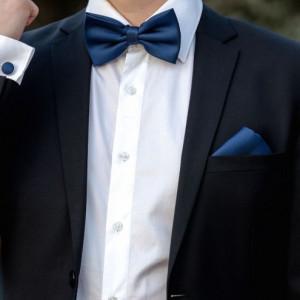 Set bleumarin papion, batista si butoni camasa