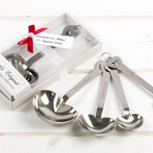 Marturii de nunta utile set lingurite Simply Elegant