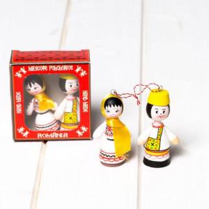Marturii figurine traditionale din lemn - port popular Oas