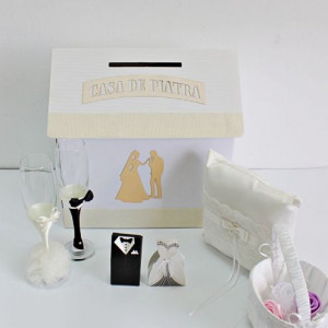 Set accesorii nunta ivory