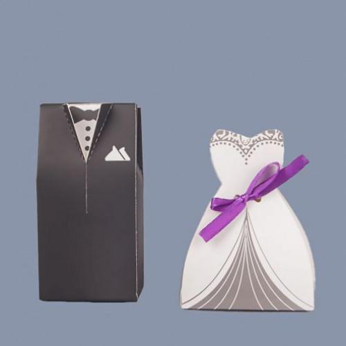 Set marturii nunta cutiute mire si mireasa