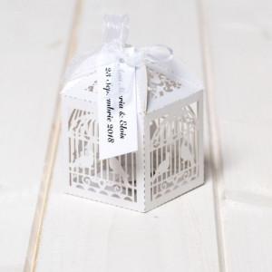 Marturii de nunta cutiute colivie alba