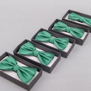Set 5 papioane verde smarald pentru cavaleri onoare